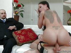 Exotic Swinger Wife Fucks Another Dude as Husband Watches