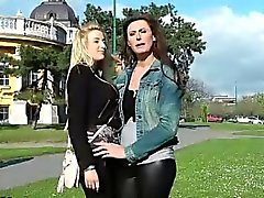 Stockings milf eats out pussy