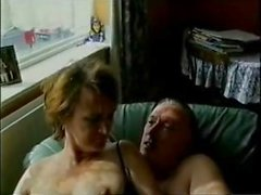 British Middleaged Couple outdoors & indoors