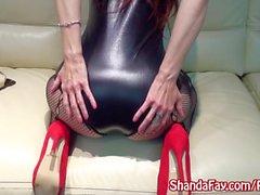 MILF Shanda Fay Sex With Fishnets & Heels