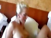 Kinky blond loves massive fisting penetrations