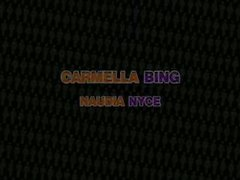two girls tag team one guy Carmella Bing, Naudia Nyce