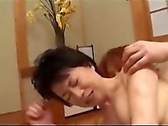 Mature Woman Getting Her Hairy Pussy Fucked By Young Guy Creampie On The Mattress In The Room