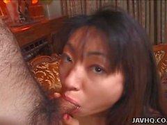 Biko Koike hot blowjob and tit cumshot!