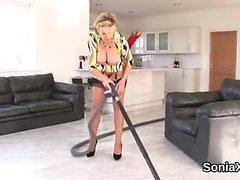 Unfaithful uk milf lady sonia exposes her monster naturals