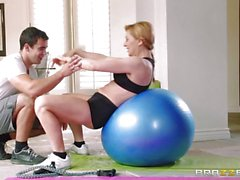 Total workout for Sasha Seans pussy