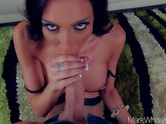 Mark White Glamour Model Jaclyn Taylor Blowjob POV Facial