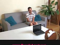 FemaleAgent MILF exploits shy gy in casting