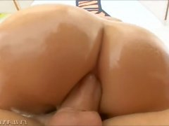 One Leg Up and Riding on Cock