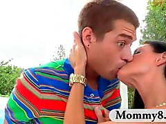 Stepmom MILF and teen hottie share a good cock