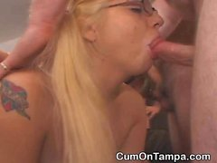Amateur Dirt Bags Getting Gangbanged On Floor At Tampa Party