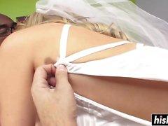 Anikka Albrite is one horny bride
