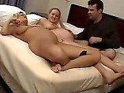 Preggo and milf have threesome