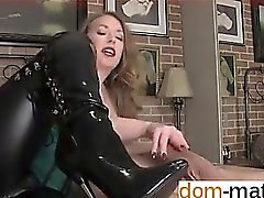 Affair from dom-match - MISTRESS TEASES WITH HER BOOTS A