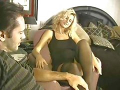 Sexy Blonde Fucked In Stockings