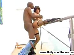 Milf pornstar Tory Lane getting sweaty with black guy
