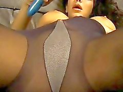Seductive MILF loves wearing pantyhose