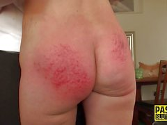 Tied up milf spanked and riding master