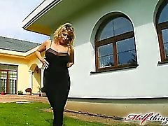 This horny big titted MILF takes on two guys. Her favorite thing is getting fucked in the ass. Our guys banged her ass and pussy at the same time. She swallowed both their loads
