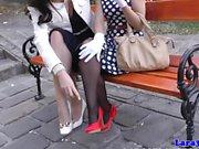 Classy british les mature fingering beauty