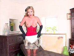 Hot pornstar nylon and cumshot
