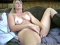 Milf Masturbates Outside