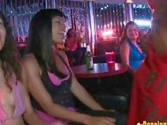 Horny Girls Blowing Stipper Cocks at the Club