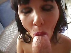 Alluring Carrie Ann mouth teases this fuck stick