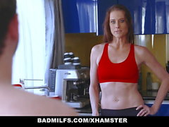 BadMILFS - Hot Teen Shares Girthy Cock With Stepmom