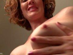 Curly Haired Redhead Mom Masturbating
