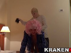 Krakenhot - Submissive street hooker spanked in a BDSM video