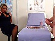 Fetish nurse watches tug