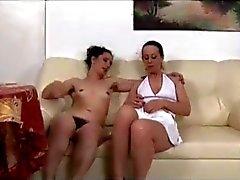 Hairy Lesbians On Sofa BVR