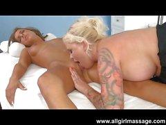 Cheerleader Presley Hart Lesbian Massage