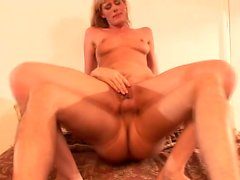 Sultry blonde housewife Darryl Hanah gets her fiery holes fucked rough