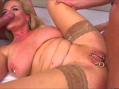 Marina Montana - German Big Saggy Tits DP Stockings