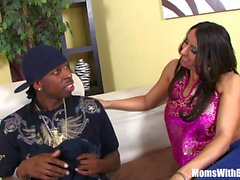 Horny MILF Raven Black Sticking A BBC Into Pussy