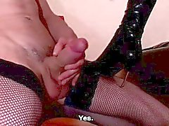 European Chick Plays With