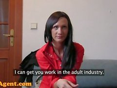 Fake Agent HD Pole dancing MILF is made for hard porn