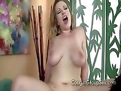 3 big boobed cock starving MILFs pumped savagely by 1 lucky stud