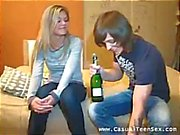 They meet and he gives her booze to get her juices flowing for sex