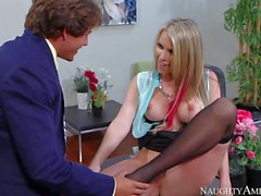 Gorgeous office woman Courtney Cummz gets nailed