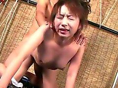 Japanese milf miki gobbling dick