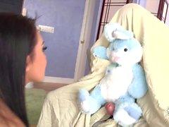 The exotic Asian schoolgirl Jayden Lee is working on her