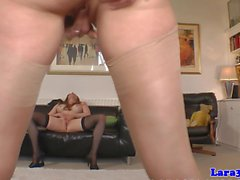 British stockings milf pussylicks and rubs