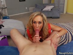 Big titted mature Brandi Love takes hubby s cock
