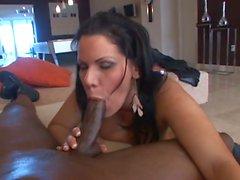 Slutty latina babe wants to plug this big black hard cock