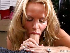 Kelly Madison shows how she pleasures a big hard cock