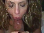 Gorgeous Milf Sucking a Big Black Cock