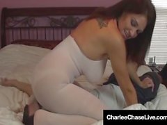 Brunette Star Charlee Chase Makes Hubby Cum by Face Sitting!